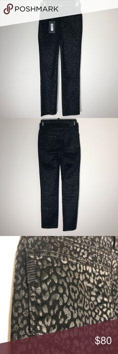 168908d2909d PAIGE NWT Jacqueline Metallic Leopard Noir Jeans PAIGE NWT Jacqueline  Metallic Leopard Noir Jeans Great condition
