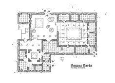 Domus-Dario, floor plan, rpg map, kosmic dungeon, #map, #rpg, #jdr