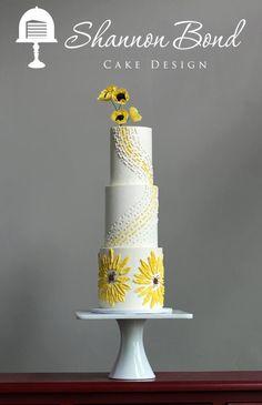 Buttercream Bas Relief Sunflowers by Shannon Bond Cake Design