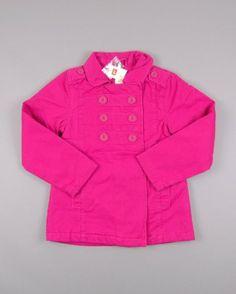 Abrigo con botones de adorno color Rosa de la marca ZY