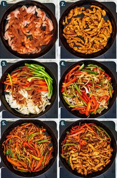 These Easy Chicken Fajitas will become your favorite weeknight meal! Just like the restaurant version but homemade and ready in 30 minutes. #chicken #fajitas #recipe Chicken Fajitas Calories, Chicken Fajitas Seasoning, Chicken Fajita Recipe, Easy Chicken Stir Fry, Easy Chicken Fajitas, Steak Fajitas, Quoina Recipes, Mexican Food Recipes, Spanish Recipes
