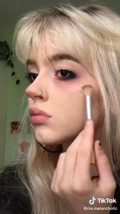 Punk Makeup, Indie Makeup, Grunge Makeup, Skin Makeup, Makeup Inspo, Makeup Inspiration, Cute Makeup Looks, Pretty Makeup, Alternative Makeup