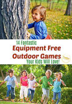 14 Equipment Free Outdoor Games Your Kids Will Go Crazy For!- 14 Equipment Free Outdoor Games Your K Outdoor Games For Teenagers, Outdoor Games For Preschoolers, Outdoor Games For Kids, Preschool Games, Outdoor Fun, Outdoor Activities, Outside Activities, Movement Activities, Church Activities