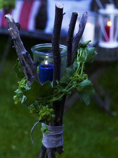 Decoration, Astonishing DIY Simple Outdoor Lighting Summer Table Decorations For Evening Ideas: Creative Ideas Homemade Summer Table Decorations For Garden Party