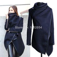 Nuevo 2014 las mujeres abrigo de lana de invierno abrigo de manga larga de moda trinchera abrigo de lana s-xxl b7 sv005043