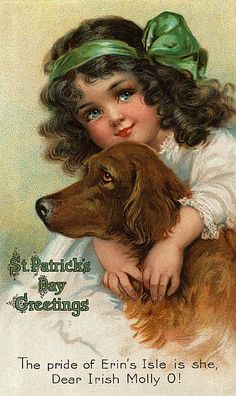 St. Patty's Vintage Postcard