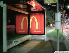 Brilliant use of stations for a McDonald's ad