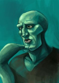 For I give you the Handsome-macho-turned-pretty-Squidward! I was laughing the whole time I was painting. It took me around two-three hours. And I defini. For Nad-Squidward Squidward Painting, Squidward Art, Squidward Tentacles, Art Zine, Graffiti Characters, Thai Art, Arte Disney, Fanart, Funny Profile Pictures