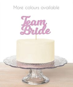 Bride to Be Cake Topper Wedding Engagement Party Celebrate Sparkle Hen Night