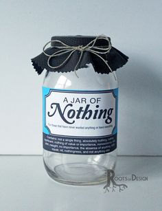 Printable labels for diy jar of nothing diy gag gift for instant download jar of nothing printable great gag gift or perfect for the holiday birthdays and more solutioingenieria Choice Image