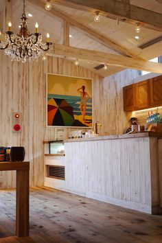 Lunch @ Ron Herman Cafe Surfer Room, Surf Shop, Clothing Displays, California Style, Interior And Exterior, Surfing, Restaurant, Wood, House