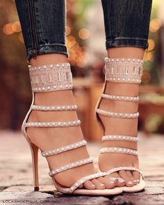 39f1a35d7304db Classy Heels shoes wedges chunky diy pump heels for prom strappy low casual  kitten short clear boots Chellysun Beading Ladder Cutout Sandals