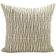 Ormbunke cushion cover from Afroart. The cushion cover is made of cotton and is printed with hand-carved wooden blocks. Textiles, Textile Patterns, Textile Prints, Wooden Blocks, Hand Quilting, Home Living Room, Hand Carved, Throw Pillows, House Styles