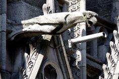 North side of Notre Dame, Paris, France