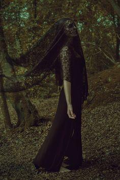 """""""Weeping Witch"""" — Photographer: Piotr Bieniasz Makeup/Assistant: Karina Cyganek – K.C. Make up Artist Model: Vaiga Linkeviciute"""
