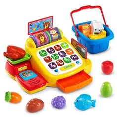 Go shopping with the Ring and Learn Cash Register by VTech. Your little shopper will love filling their basket with healthy play food and pretending to buy them with the interactive toy cash register. 1 Year Old Girl, Shopping Games, Toys For 1 Year Old, Toys R Us Canada, Cash Register, 1 Year Olds, Play Food, Toys For Girls, Kids Toys
