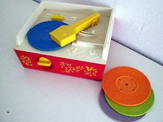 THIS was my favorite toy as a child.  I would play radio DJ in my G'mas closet!