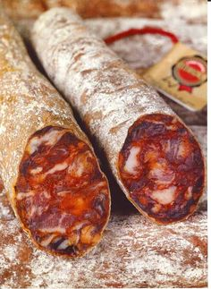 Chorizo is cured smoked pork sausage from Spain...it's a very important ingredience in spanish gastronomy.