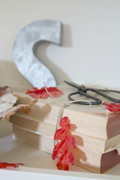 Autumn mantel or shelf makeover
