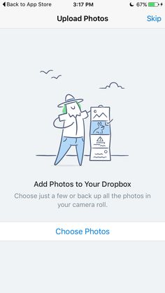 Dropbox photos empty state