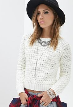 Waffle Knit Sweater | Forever 21 - 2000083285