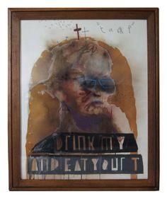 "Saatchi Art Artist Samuel Bassett; Painting, ""drink my and eat your t"" #art"