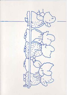 Sunbonnet Babies - Ten of us all in a row - right half pattern