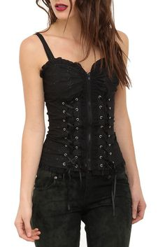 Royal Bones Black Corset Top