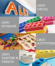Lego Activities, Decor, Food