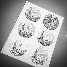 starry night // line tattoo ideas