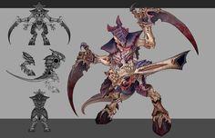 Tyranid warrior concept, Rayph Beisner on ArtStation at https://www.artstation.com/artwork/tyranid-warrior-concept