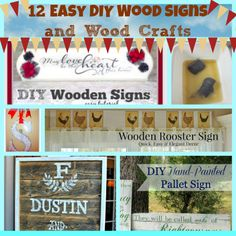 12 Easy DIY Wooden Signs and Wood Crafts | Bowdabra Blog