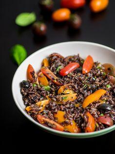 Sałatka z czarnego ryżu | Bez glutenu | Przepis | Blendman.pl