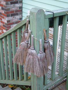 My magic porch brooms keep us safe! | Flickr - Photo Sharing!