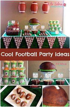 Let's talk football birthday parties. We love football parties here at Spaceships and Laser Beams. Whether it's a small party at home or a blowout bash at Super Bowl time, there's nothing better than celebrating Football Birthday, Sports Birthday, Boy Birthday Parties, Birthday Party Decorations, Football Food, Sports Party, Birthday Ideas, Football Parties, Happy Birthday