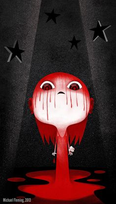Carrie White, 2013My (limited to 5 pieces) art print for the Planet Pulp and Hero Complex Gallery show RED (featuring red as the dominant co...