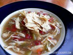 Crockpot, Chicken Tortilla Soup