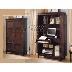 Computer armoire... great idea!  Office anywhere... now you see it now you don't!