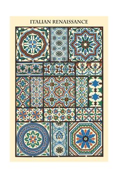 Ornament-Italian Renaissance Art Print by Racinet at Art.com