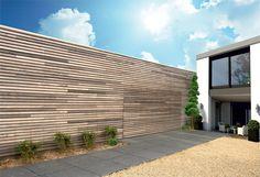 Port�o de garagem autom�tico seccionado de madeira KAM�L�O BOIS by SDA BFT