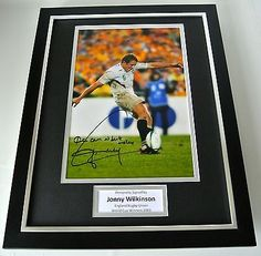 Jonny #wilkinson signed framed photo #autograph #16x12 display rugby world cup 20,  View more on the LINK: http://www.zeppy.io/product/gb/2/121762359056/