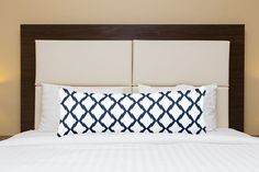 Items Similar To Body Pillow Cover Navy White Contemporary Decor Blue Large Throw On Etsy