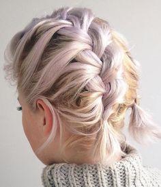 Two Messy Braids For Short Hair, misschien wel leuker met blond haar?