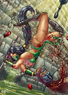 Jade vs. Sub-Zero / Mortal Kombat