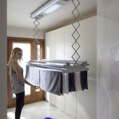49 Drying Rack Design Ideas That You Can Try - a drying clothes ideas - Bathroom Towel Laundry Room Bathroom, Towel Rack Bathroom, Laundry Closet, Laundry Room Storage, Laundry Room Design, Small Laundry, Laundry Rooms, Storage Organization, Drying Rack Laundry