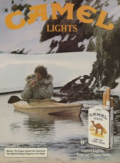 1984 Camel Lights Cigarettes Ad Vintage Cigarette by AdVintageCom Vintage Advertisements, Vintage Ads, Vintage Prints, Print Advertising, Print Ads, Malboro, Smoking Photos, Vintage Cigarette Ads, Smoke Art