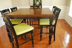 Want to learn how to upholster the seat of your dining room chairs? Here's how!       I have a fabulous tutorial for you today..... a step by step picture tutorial on how to upholster dining room chairs! upholstering dining room chairs actually #KitchenChair