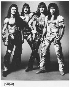 Manowar, promocard ca. 1984Joey DeMaio, Scott Columbus, Ross «The Boss» Friedman and Eric Adams