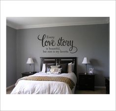 Every Love Story is Beautiful Vinyl Wall Decal Vinyl Wall Decor. $25.00, via Etsy.