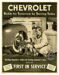 Chevrolet Ad with a very early Lincoln work station